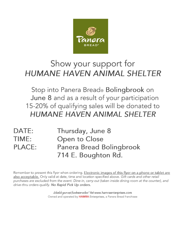 Panera Flier for June 8