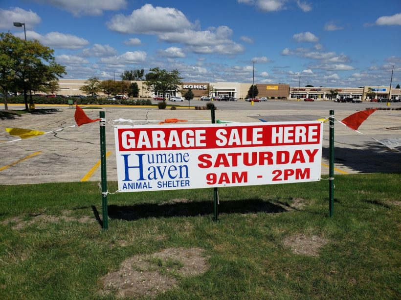 The Garage Sale is Tomorrow!
