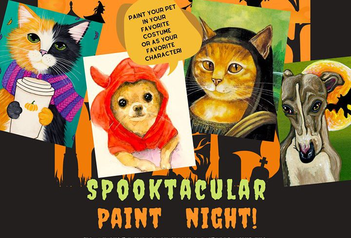 "We Got Chills From ""Spooky Paint Your Pet & Sip!"""